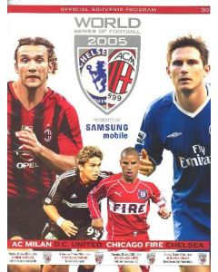 World Series of Football Official Programme about Milan v Chicago Fire,Chelsea v D.C. United and Milan vChelsea in July 2005 in the USA