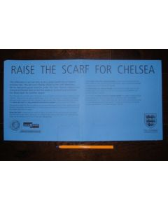 2000 Charity Shield Chelsea v Manchester United The Last Charity Shield at Wembley - sponsors' banner, blue issue