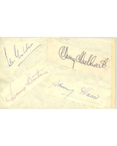 Portsmouth and Chelsea old autographs