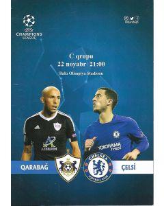 Qarabag v Chelsea 22/11/2017 Official Football Programme