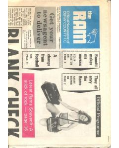 Derby County vChelsea official programme The Ram official newspaper of Derby County Football Club 25/08/1973