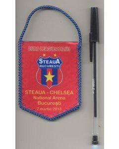 Steaua Bucharest v Chelsea 07/03/2013 and Chelsea v Steaua 14/03/2013 UEFA Europa League small pennant