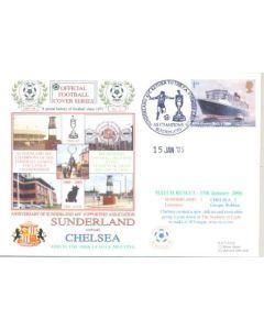 Sunderland v Chelsea First Day Cover 15/01/2006