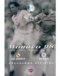 1998 Super Cup Final Real Madrid V Chelsea official programme 28/08/1998
