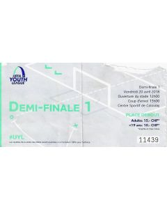 2018 UEFA Youth League Semi Final Ticket - Chelsea v Porto. Ticket is substandard which means it may have a tear, small rip, be marked with pen or another fault.