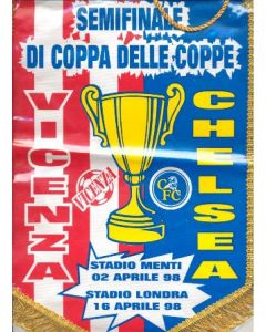 1998 Cup Winners Cup Semi Final Pennant Vicenza v Chelsea Cup Winners Cup 02/04/1998